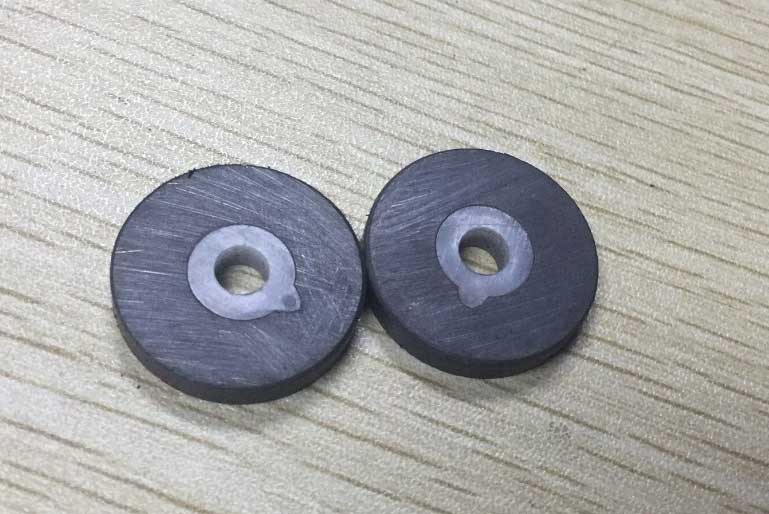 flat ring ferrite magnet with 10 poles